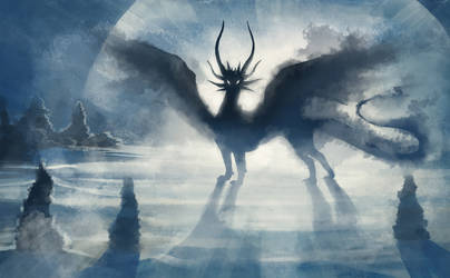 Shadowbeast of  the Frozen wastes by hibbary