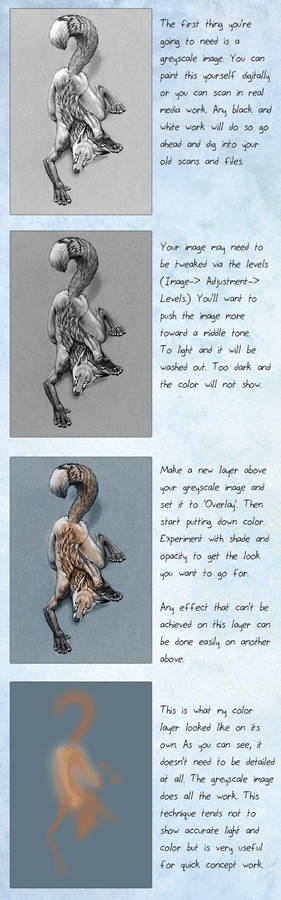 Color over greyscale tutorial