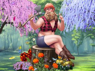 Whimsical Woodman by hibbary
