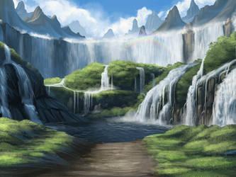 Xinmet Cascade by hibbary