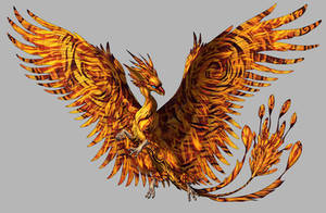 Phoenix Dragon for Khimeros by hibbary