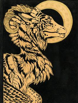 Holy Dragon Sketchbook Cover