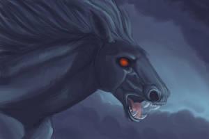 Storm Horse by hibbary