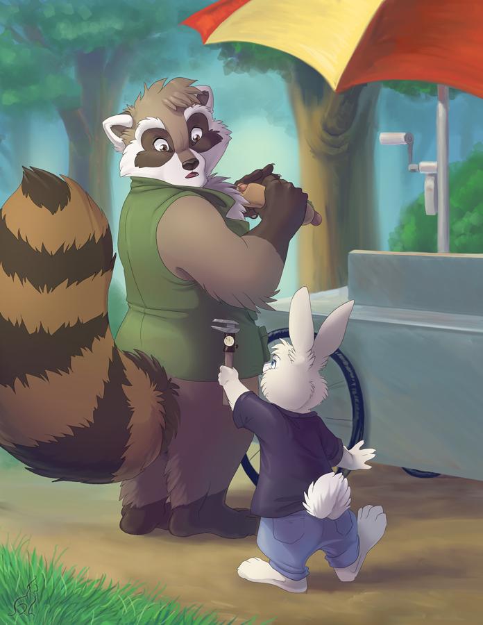 Rackety Raccoon by hibbary
