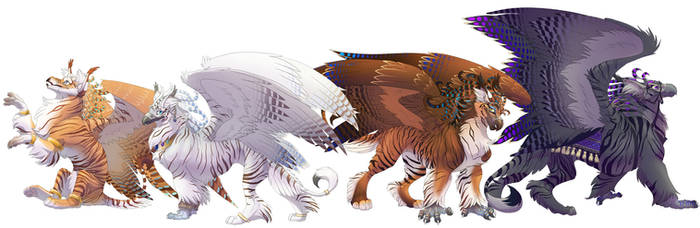 The Adhiraj Griffins by hibbary