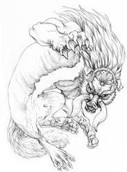 Dark Beast Ganon by hibbary