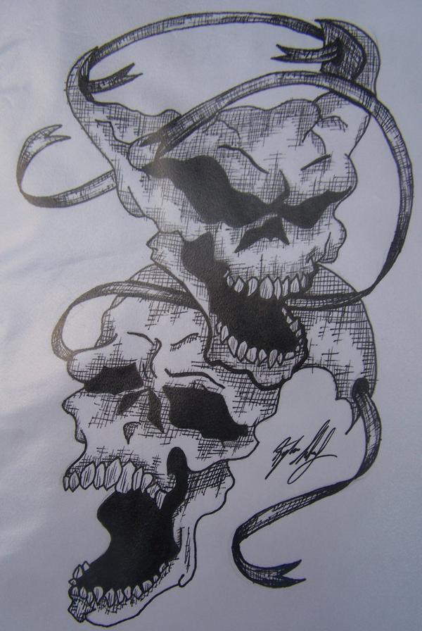 skull drama masks by kylalockwood on deviantart. Black Bedroom Furniture Sets. Home Design Ideas