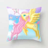 Fluttershy Pillow at my Society6 store!