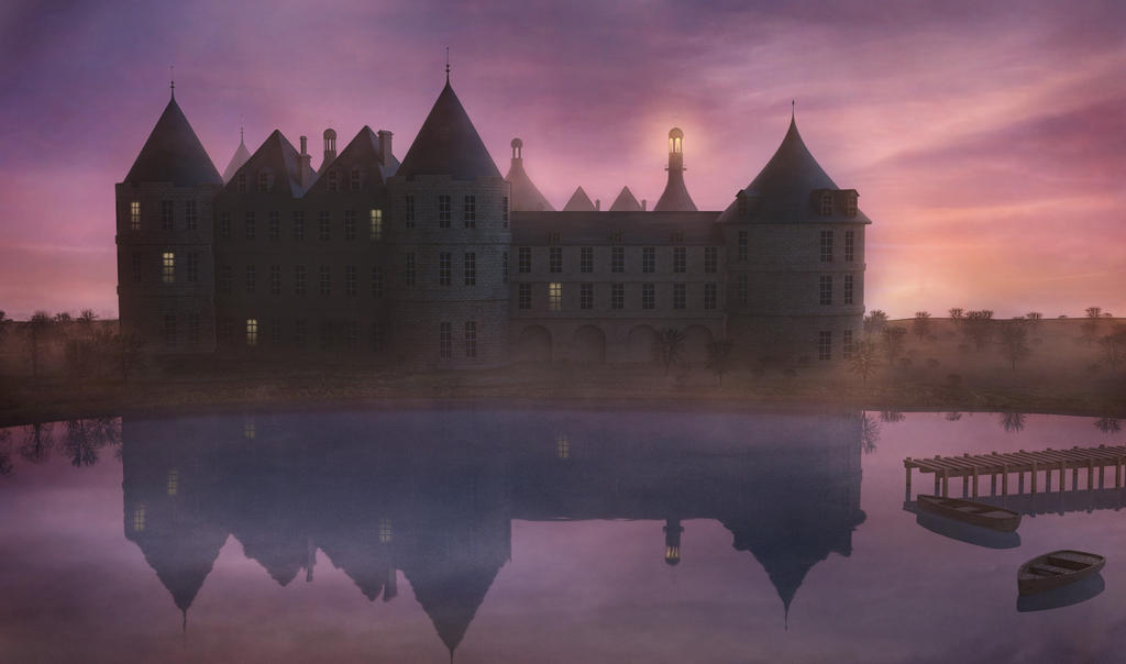 Castle at dawn by Tellurian84