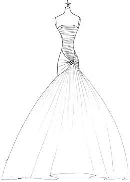 Wedding dress sketch 3 by dawndrawsanimemanga on deviantart for How to become a wedding dress model