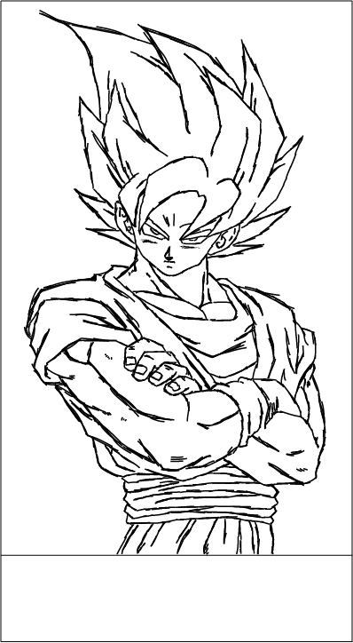 Goku Line - #01 by Arkimennes