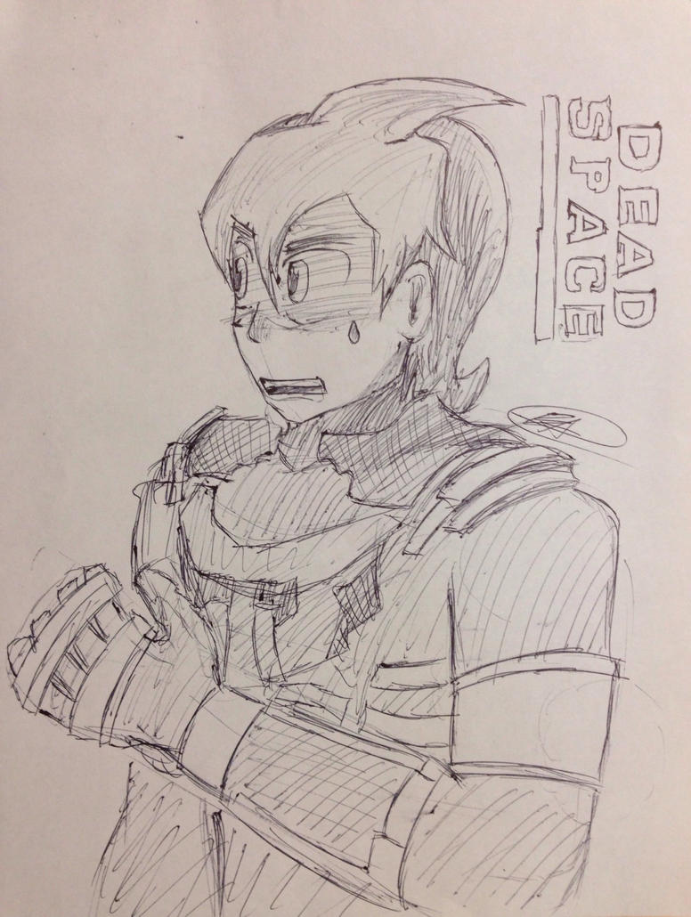 Inktober Day 1: Dead Space by HiroNinja
