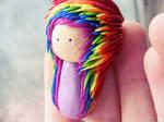 rainbow hair chibi