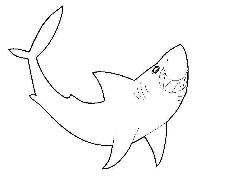 Line Art Shark : Shark lineart by wolf guy liam on deviantart