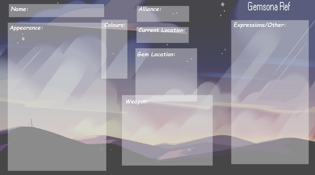 Steven Universe: Gemsona Reference Sheet Blank By Lurkymurky ...  Blank Reference Sheet