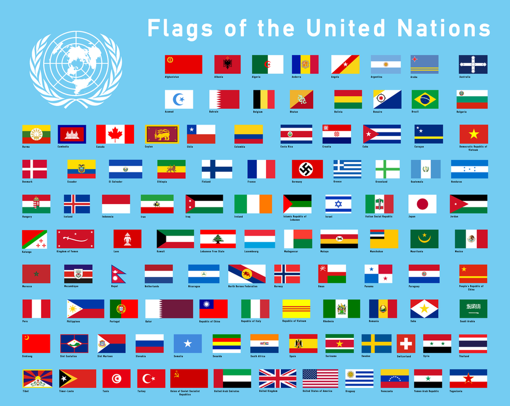 United Nations Members Flags Flags of the UN by RvB...