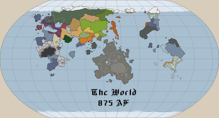 Fantasy World Map 33