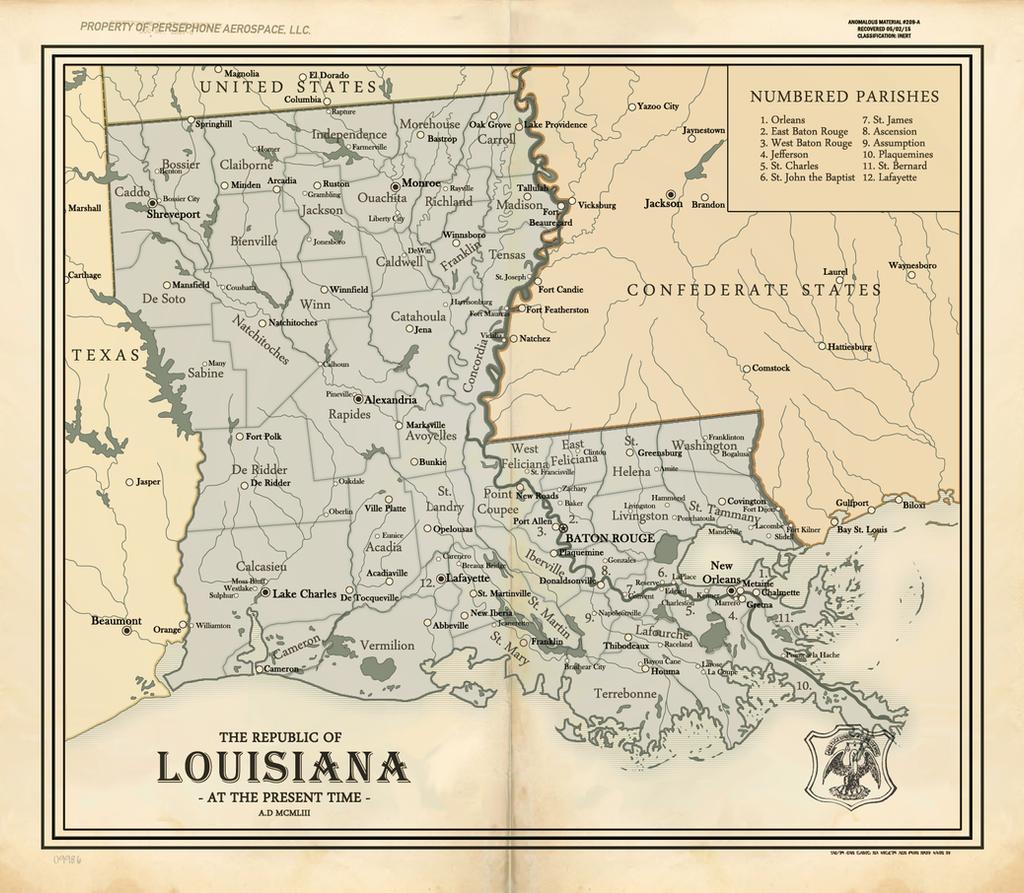 The Republic of Louisiana by RvBOMally