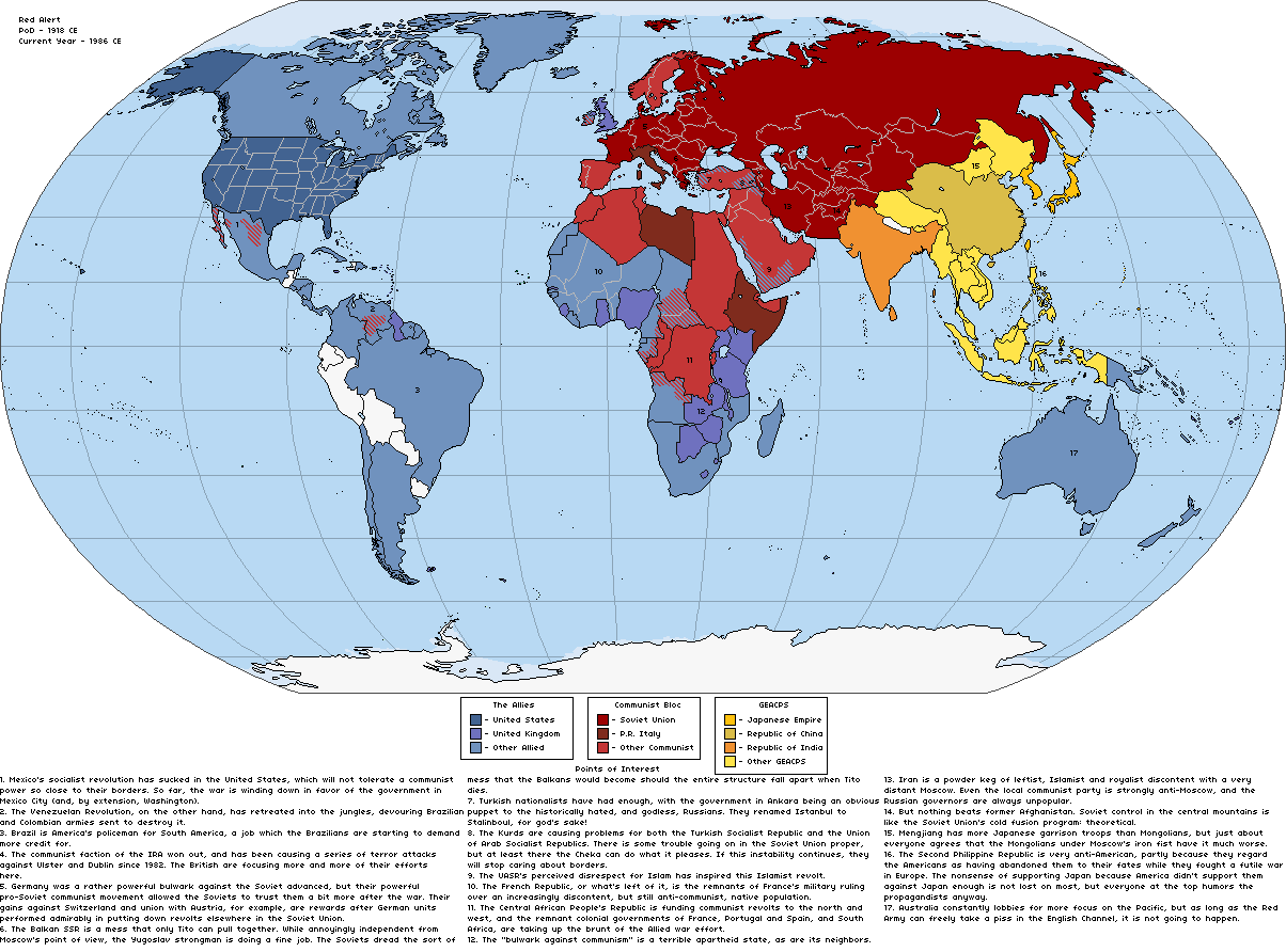 Red Alert By Rvbomally On Deviantart Map Of Current Us Allies