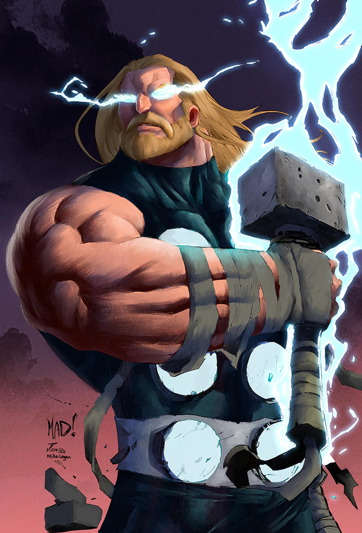 Joe Mad Thor Paint by mikeorion22