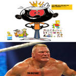 Brock Lesnar hates Bart-Toons