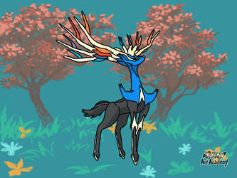 Xerneas Art academy by mgunnels3