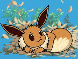 Eevee Pastel Drawing by mgunnels3