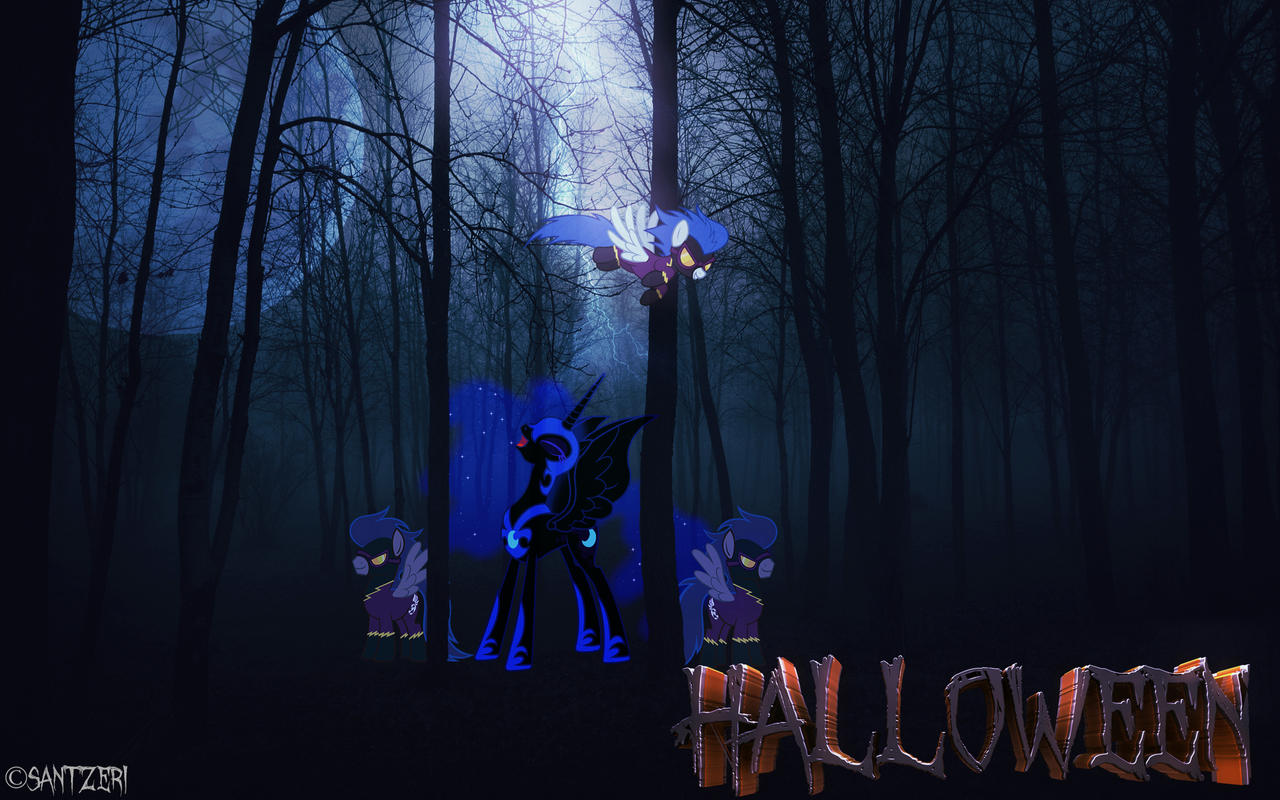 MLP: Halloween 2013 (Wallpaper) by Santzii