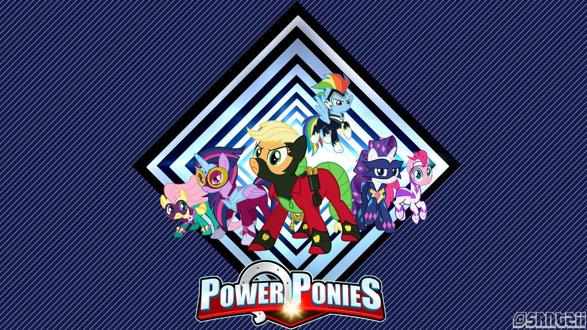 Power-Ponies wallpaper (w. text) by Santzii