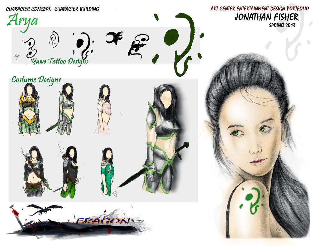 Arya Concept Sheet 2 by itokyoshoes