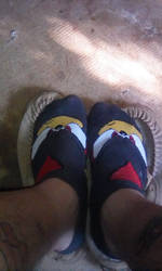 Shadow the Hedgehog socks