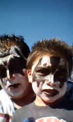 Me and Lil Demon as KISS