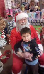 Little Demon with Santa