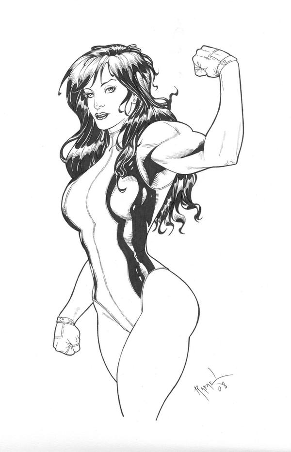 She-Hulk inks by Rafael0381