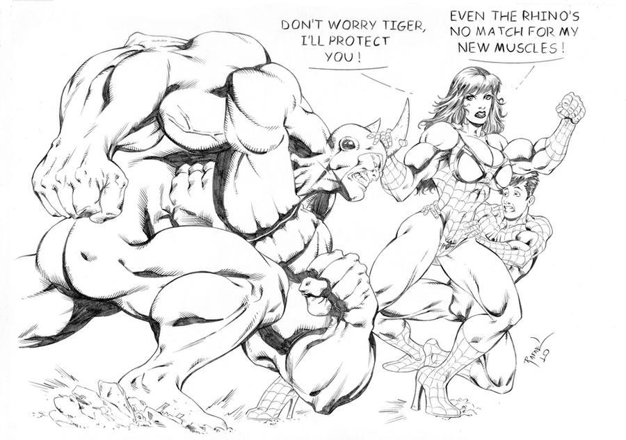 Rhino Vs ... Mary Jane ? by Rafael0381