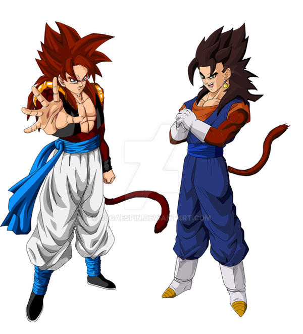 Vegetto vs Gogeta SSJ4 by OlgaEspin on DeviantArt
