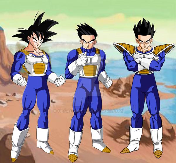 Goku goten gohan gt armor by olgaespin on deviantart - Gohan dragonball gt ...