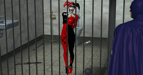 Harley Quinn in a Cell by VideoGameBondage