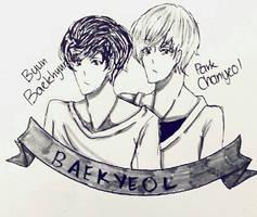 inktober day 4(late) Baekyeol