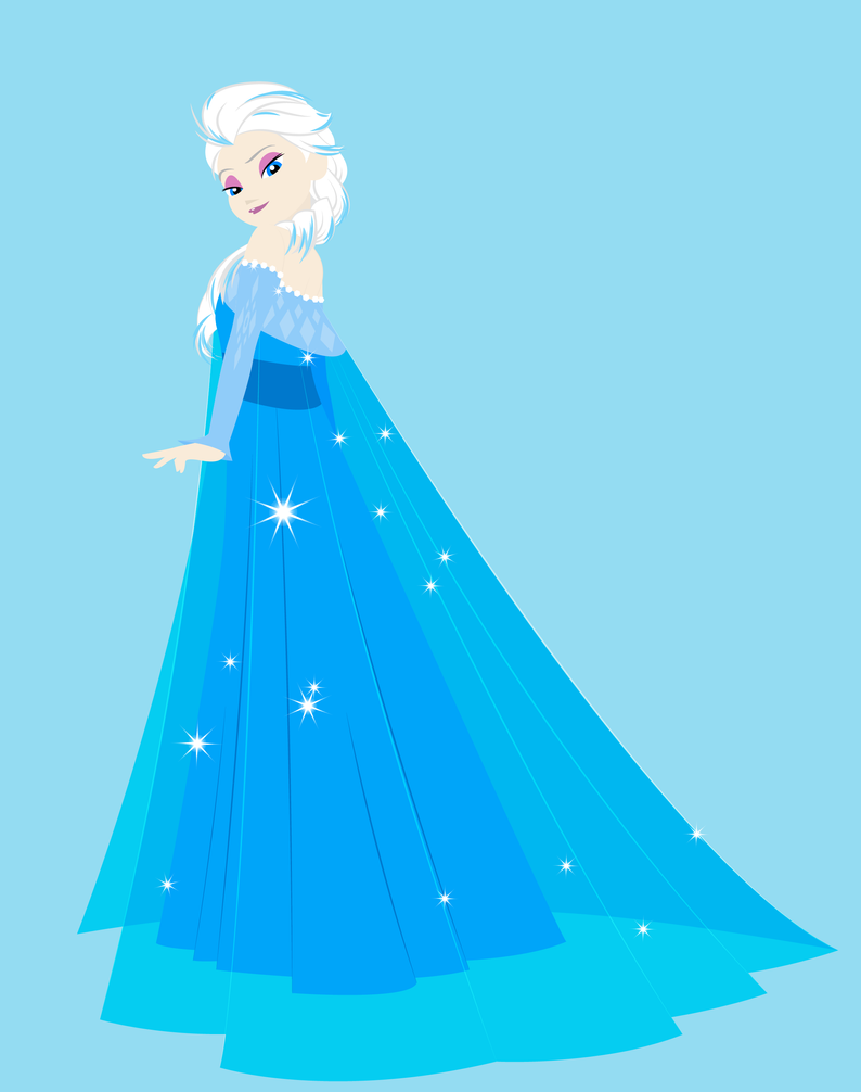 Elsa the Snow Queen (First Drawing) by Alex2424121