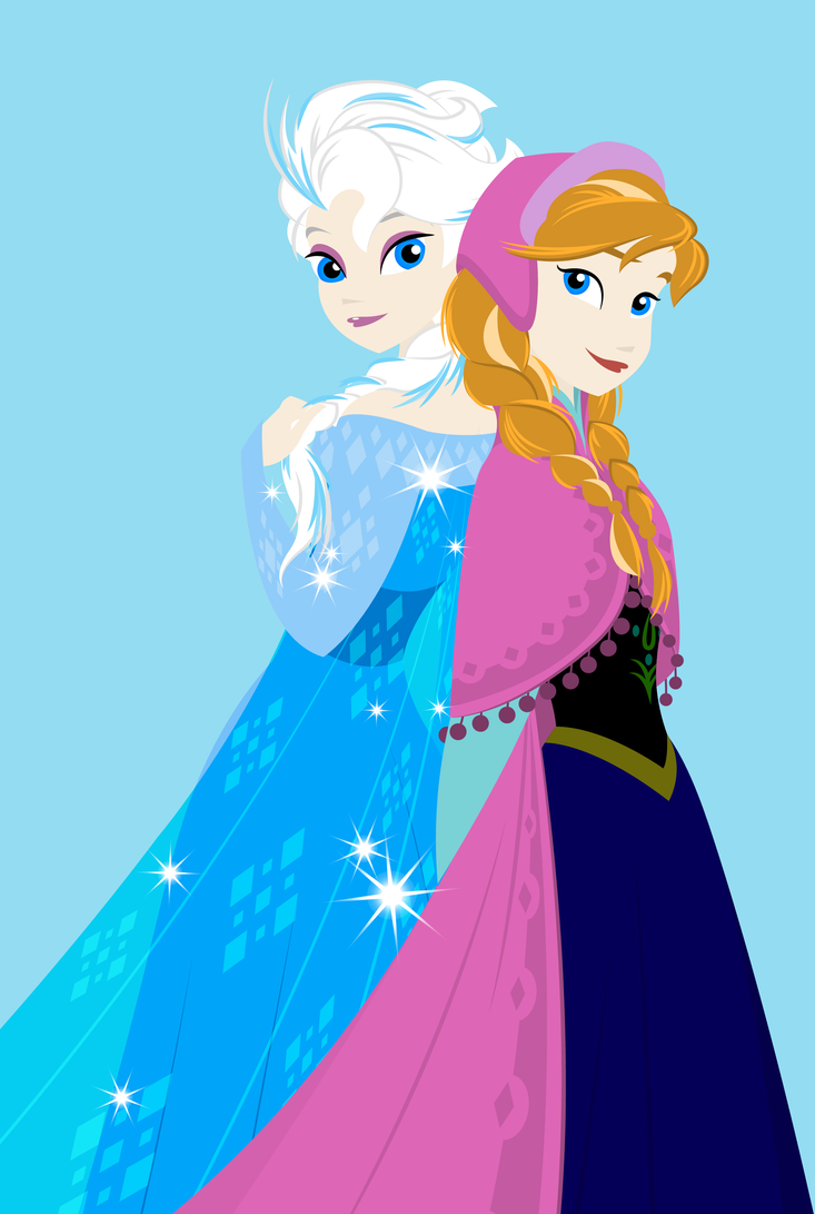 Elsa and Anna (First Drawing) by Alex2424121