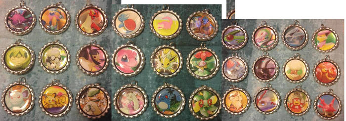 Bottlecap Charms Collage
