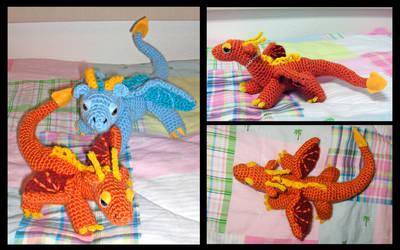 Orange Dragon Amigurumi by Sparrow-dream