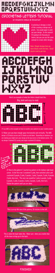 Crocheting Letters Tutorial