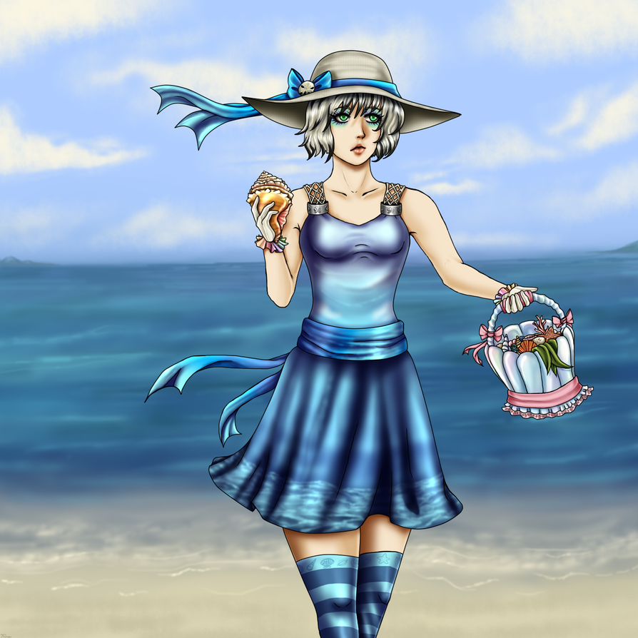 Collecting Seashells by LadyNoise