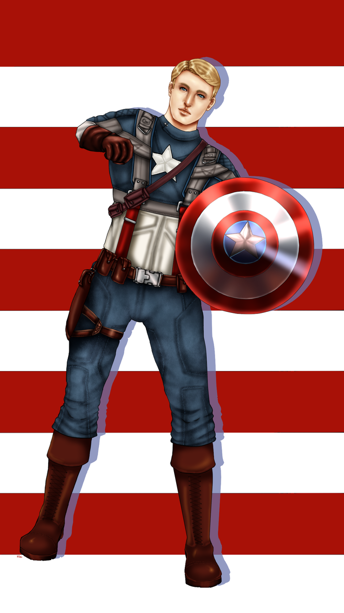 Captain America by LadyNoise