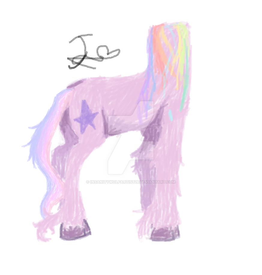 unicorn with no head by insanitywolfartist26