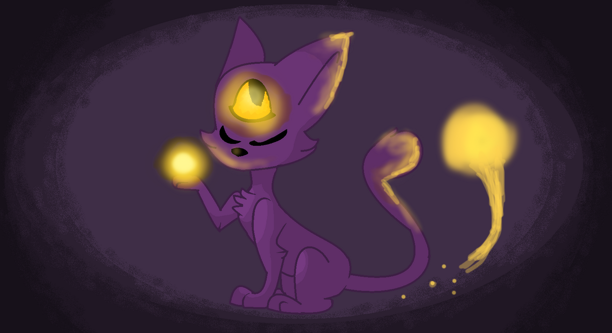 One Eye Cat by insanitywolfartist26