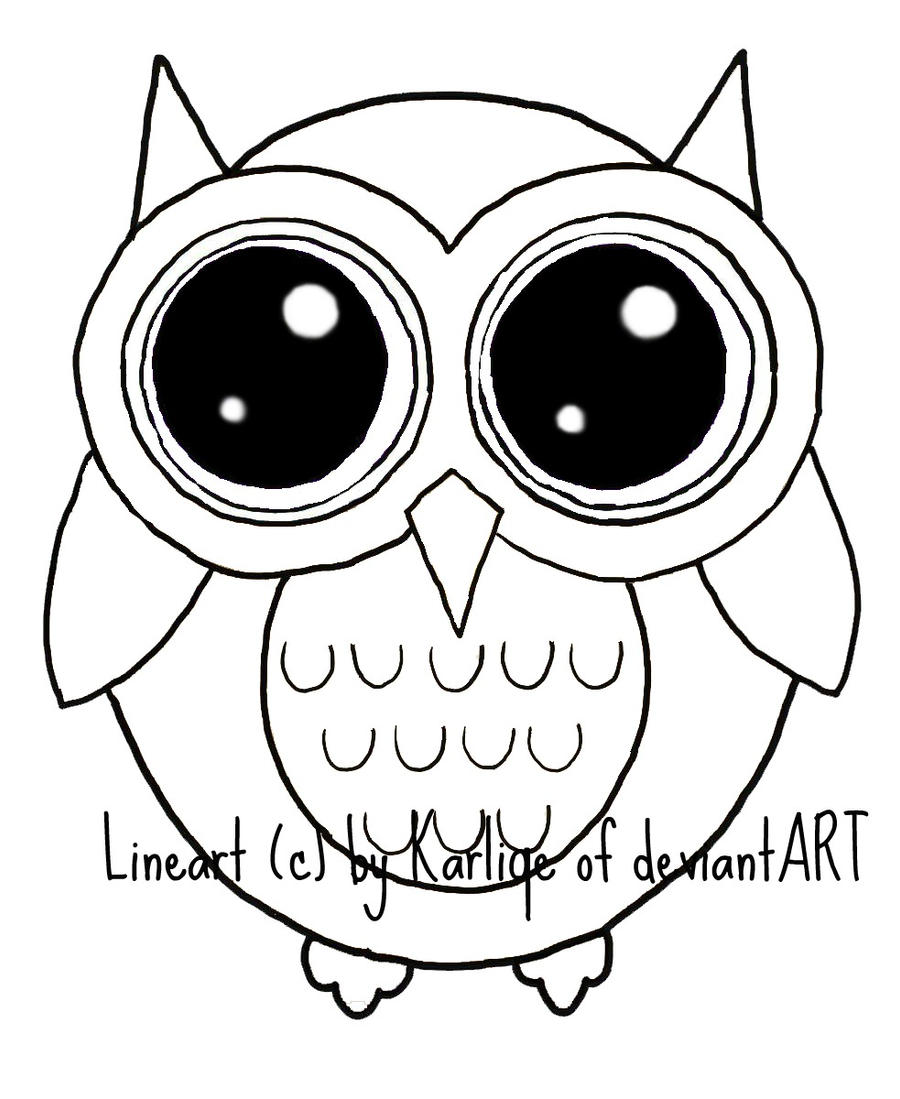 Line Art Owl : Owl lineart by karliqe on deviantart