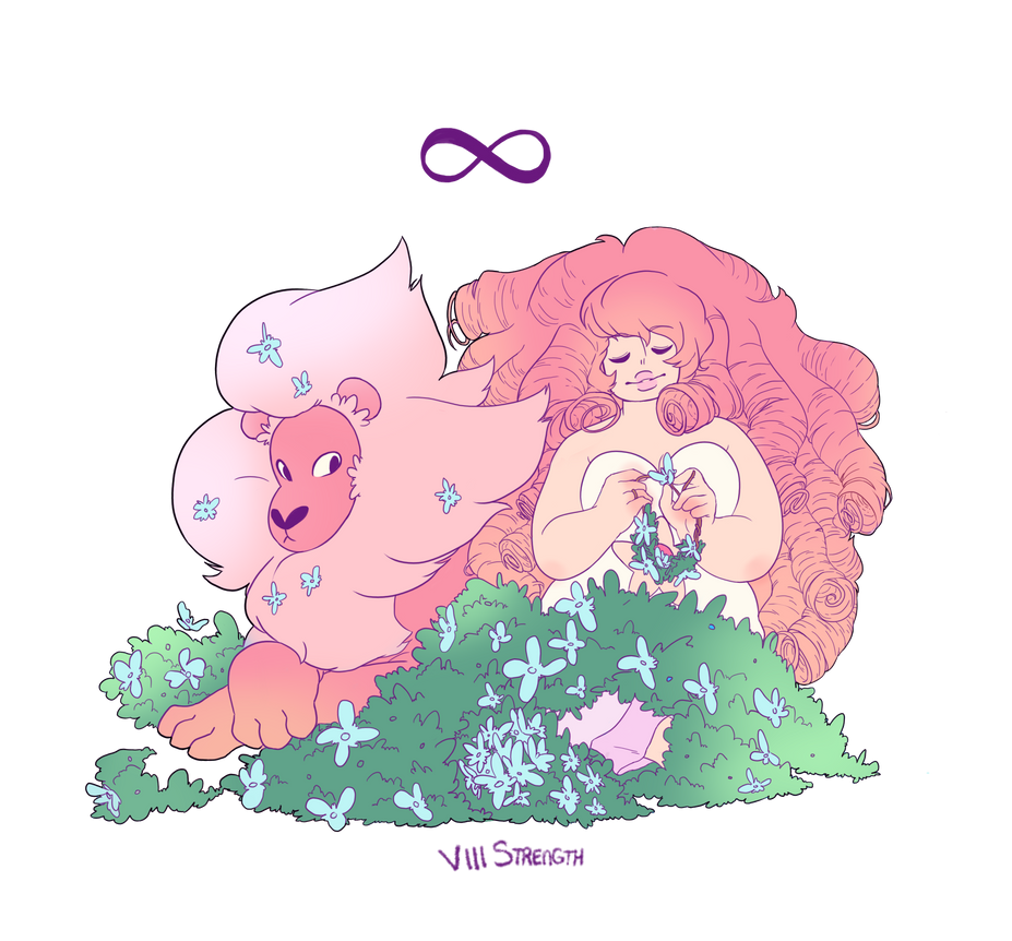 A little some thing SU ans tarot card related VIII strength related to rose and lion so much that i just had to draw it, thanks to my friend arcxdiagay for adding the really nice colours for me! th...